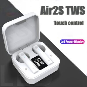 Air2S TWS Bluetooth 5.0 Earphones Noise Cancelling fone Headset With Microphone Handsfree Wireless Earbuds For Xiaomi IOS iPhone Earbuds