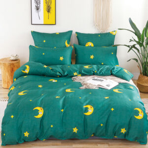 Alanna X series 05 Printed Solid bedding sets Home Bedding Set 4-7pcs High Quality Lovely Pattern with Star tree flower Bedrooms