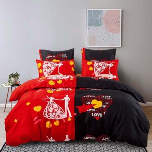 Alanna X series 5-6(2) Printed Solid bedding sets Home Bedding Set 4-7pcs High Quality Lovely Pattern with Star tree flower Bedrooms