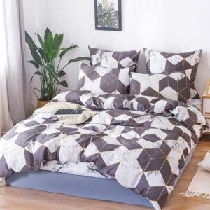 Alanna bedding sets X series 06-2 Printed Solid Home Bedding Set 4-7pcs High Quality Lovely Pattern with Star tree flower Bedrooms