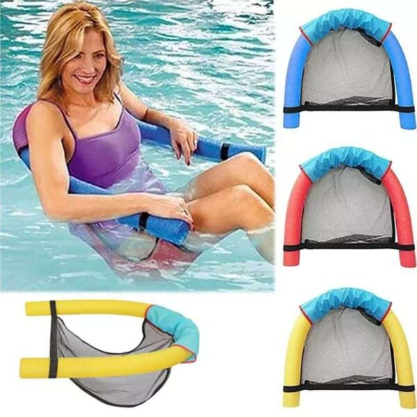 Amazing Floating Chair For Swimming Pool Party Kids Bed Seat Water Relaxation Flodable Swimming Ring Pool Toys Noodle Chair New Swimming