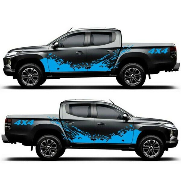 Auto Parts Stickers Pickup Products Decoration Motorcycle Off Body Truck Graphics Stickers Vinyl Car 4×4 Trim Decal Splash F5H9 Car accessories