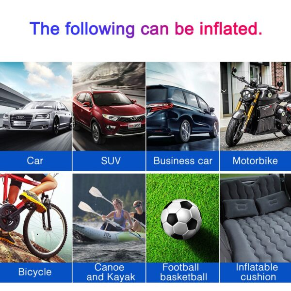 Auto inflator Air Compressor tyre inflators Mini Handheld Pump Car Cordless Electric Pump For Ball Bicycle Tire High Pressure Car accessories