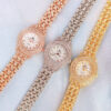 BS Bee Sister Dress Luxury Gold Quartz Watch Women Small Dial Crystal Diamond Stainless Waterproof Montre FA1578 watch wrist Fashion Life & Accessories Iwatch & Accessories
