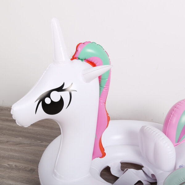 Baby Inflatable Rainbow Unicorn Pool Floats Hot Pegasus / Horse Water Float Swimming Seat for Children Floating Island Water Toy Swimming