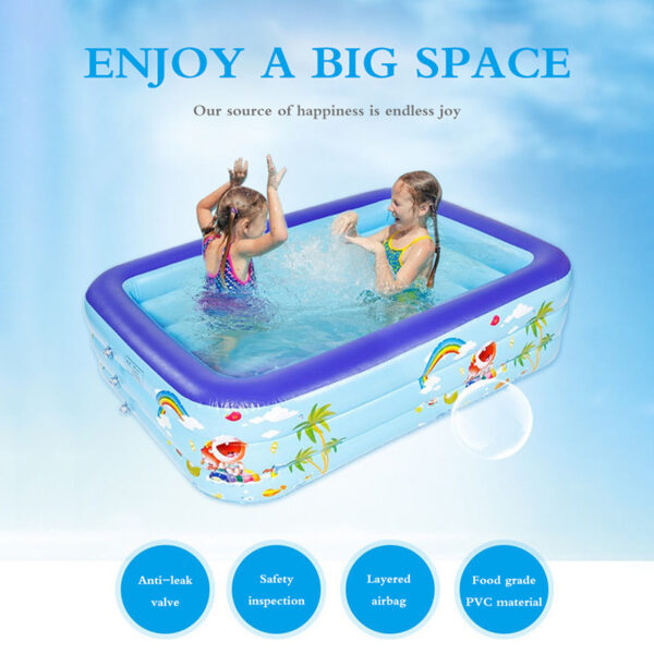 Baby Kids Inflatable Platz Swim Pool Safety Float Thickened Ocean Ball Pool Play Swimming Pool Infant Water Floating Summer Swimming