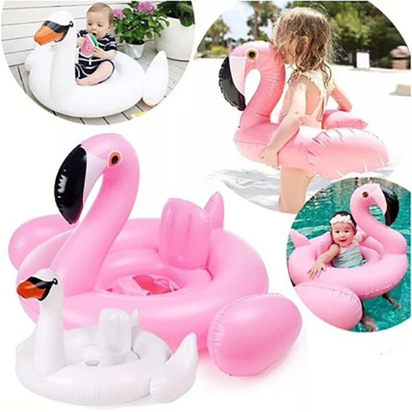 Baby Swimming Float baby Seat Float Inflatable Flamingo Swan Pool Float Baby Summer Water Fun Pool Toy Kids Swimming ring Swimming