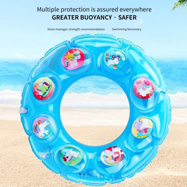 Baby Swimming Pool Rings Seat Cute Inflatable Swim Ring Float Seat Swim Circle With Dual Handle For Baby Toddlers Pool Bathtub Swimming