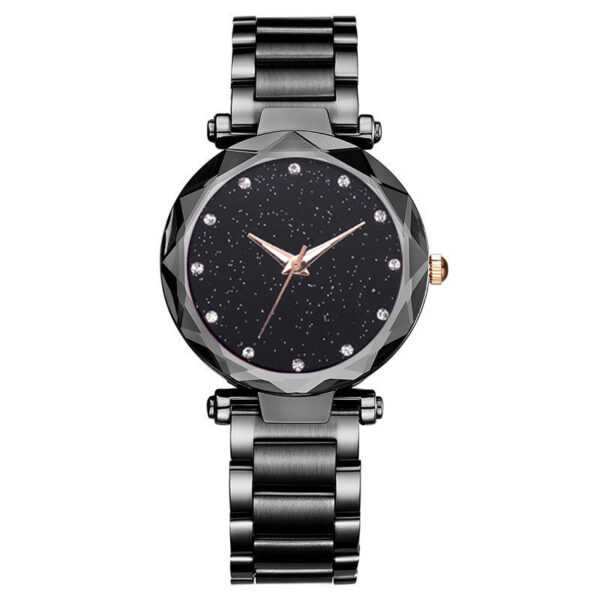 Bayan Kol Saati Luxury Rose Gold Starry Sky Watches Women Fashion Stainless Stainless Rhinestone Watch Casual Ladies Watch Clock Fashion Life & Accessories Iwatch & Accessories