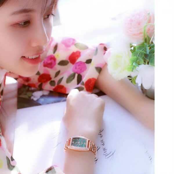 Bee Sister Women Wrist Watches 2021 relogio feminino Luxury Brand Small Green Classic Stainless Steel Fashion Watch For Ladies Fashion Life & Accessories Iwatch & Accessories