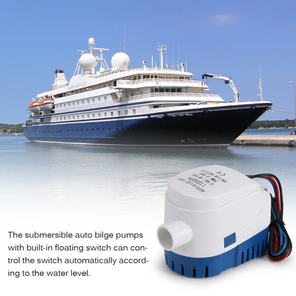 Bilge Auto Water Pump Stainless Steel Rowing Fishing Boats Diving Protection Easy Install Remove Submersible Auto Bilge Pumps Swimming