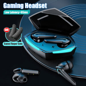 Bluetooth 5.0 Earphones Stereo bass Wireless Headphones Touch Control Gaming Headsets Low Delay Noise Canceling Earbuds With Mic Bluetooth headphones