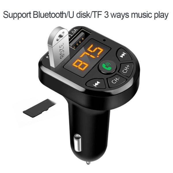 Bluetooth 5.0 FM Transmitter Car Kit MP3 Modulator Player Wireless Handsfree Audio Receiver Dual USB Fast Charger 3.1A Car accessories