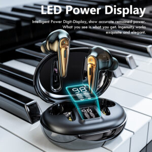 Bluetooth 5.0 Wireless Headphone Touch Control LED Display Earphone 9D Stereo Sports Waterproof Earbuds Headsets With Microphone Bluetooth headphones