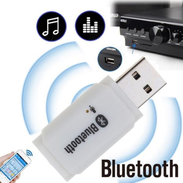 Bluetooth 5.0 Wireless USB Receiver AUX Car Audio Adapter Mp3 Player Handsfree Speaker For Android/IOS Car Kit Microphone Car Car accessories