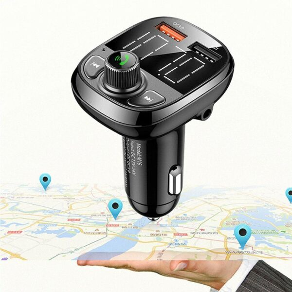 Bluetooth Car FM Transmitter Handsfree Qc3.0 USB Charger Mp3 Radio Adapter Kit Quick Charge Dual USB Car Charger Dropshipping Car accessories
