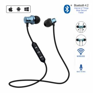 Bluetooth Earphone Sports Gaming Headset Neckband Magnetic Wireless earphones Stereo Earbuds Headphones With Mic For Iphone 7 Bluetooth headphones