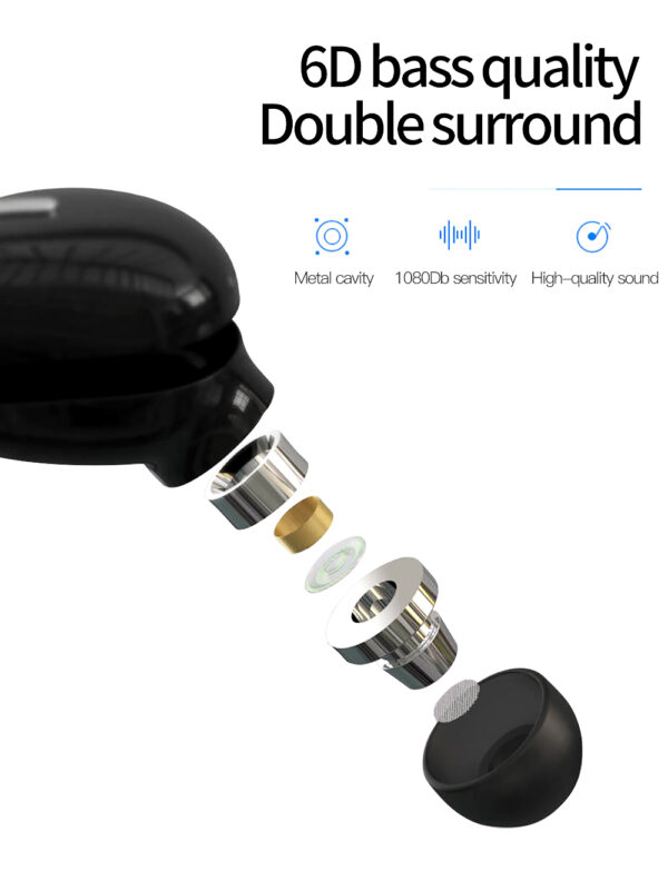 Bluetooth Earphone X9/S9 Mini5.0 Sport Gaming Headset with Mic Wireless Earbud For Xiaomi All Phones Handsfree Stereo Headphone Earbuds