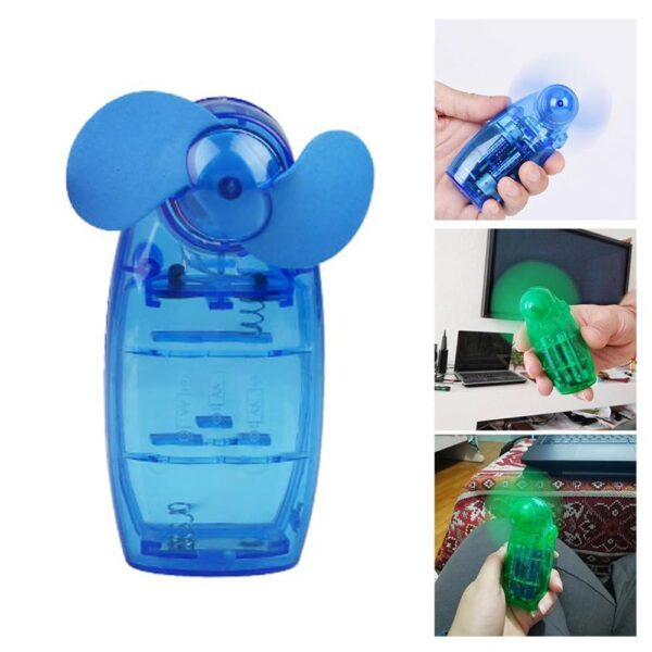 Business Trip Fan Hand-Held Personal Fan Health Care Products Mini Handheld Plastic Random Color Cooler Battery Operated Cooler Car accessories