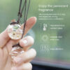 Car Air Freshener Hanging Perfume Pendant Bottle With Flower Auto Essential Oils Perfume Bottle Diffuser Automobiles Ornaments Car accessories