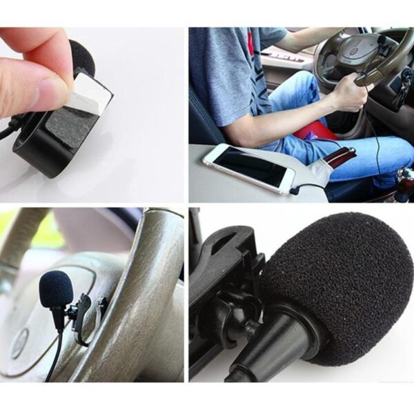 Car Audio Microphone 2.5mm Clip Jack Plug Mic Stereo Microphone Wired For Pioneer Radios External Mini Car Auto Radio DVD H4J1 Car accessories