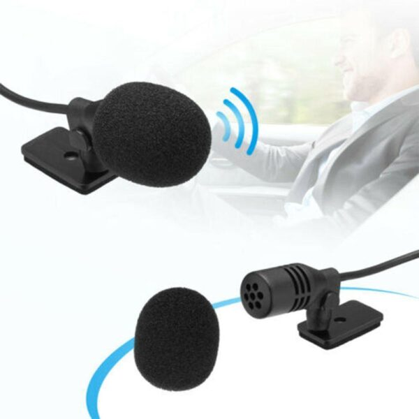 Car Audio Microphone 3.5mm Clip Jack Plug Mic Stereo Mini Wired External Microphone For Auto DVD Radio 3m Long Professionals Car accessories