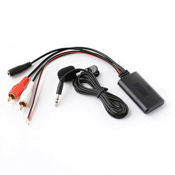 Car Bluetooth 2RCA AUX Adapter Wireless Audio Phone Call Handsfree Microphone for Stereo with 2RCA AUX-IN Audio Input Car accessories