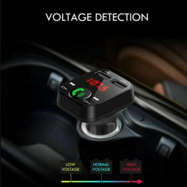 Car Bluetooth 5.0 FM Transmitter Wireless Handsfree Audio Receiver Auto MP3 Player 2.1A Dual USB Fast Charger Car Accessories Car accessories