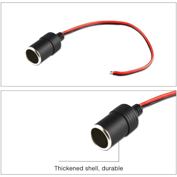 Car Cigarette Lighter 12V 10A Max 120W Charger Cable Female Socket Plug High Quality Car Cigarette Cable Accessories 30cm Car accessories
