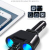 Car Cigarette Lighter Socket Splitter Auto Plug Converter 5V 3.1A Dual USB Charger with Voltage Monitor For iPhone Samsung Car accessories