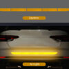 Car Exterior Warning Strip Car Sticker Reflective Tape Stickers Reflect Tape Traceless Protective Trunk Body Car Accessories Car accessories