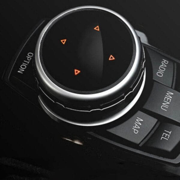 Car Multimedia Button Cover Knob Frame Trim for BMW F10 F20 F30 for NBT Controller Only Ceramic for iDrive Button Car accessories