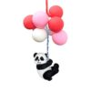 Car Pendant Panda Pink Balloon Rearview Mirror Decoration Hanging Charm Ornaments Automobiles Interior Cars Accessories Gifts Car accessories