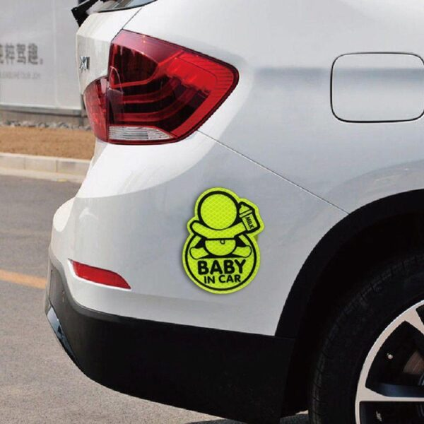 Car Personality Baby In Car Guan Yuanguang Reflective Stickers Reflective Warning Stickers To Prevent Rumbling Speakers Car accessories