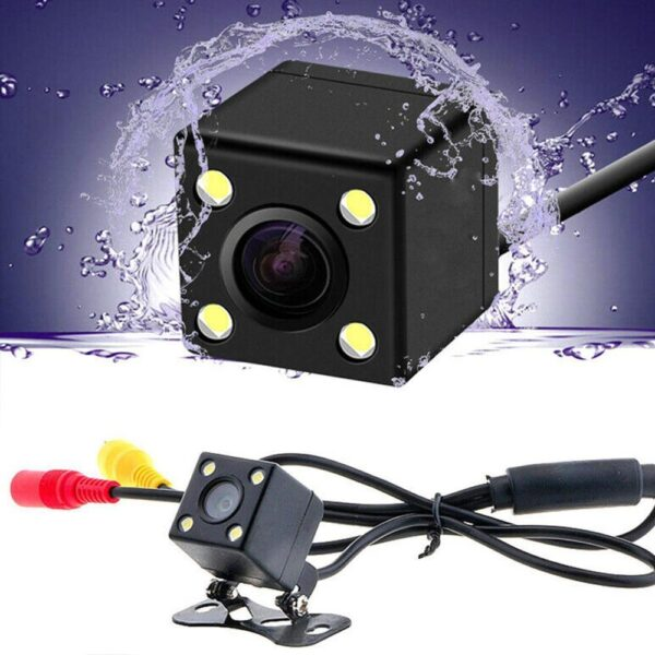 Car Rear View Camera 4 LED Night Vision Reversing Auto 170 CCD Waterproof Video Parking Monitor HD Degree I7W7 Car accessories