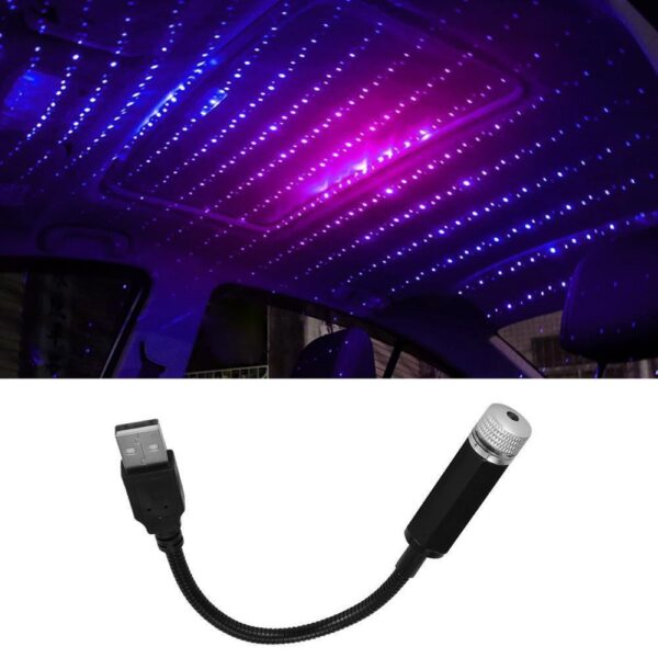 Car Roof Projection Light USB Portable Star Night Light Adjustable LED Galaxy Atmosphere Light Interior Ceiling Projector Car accessories