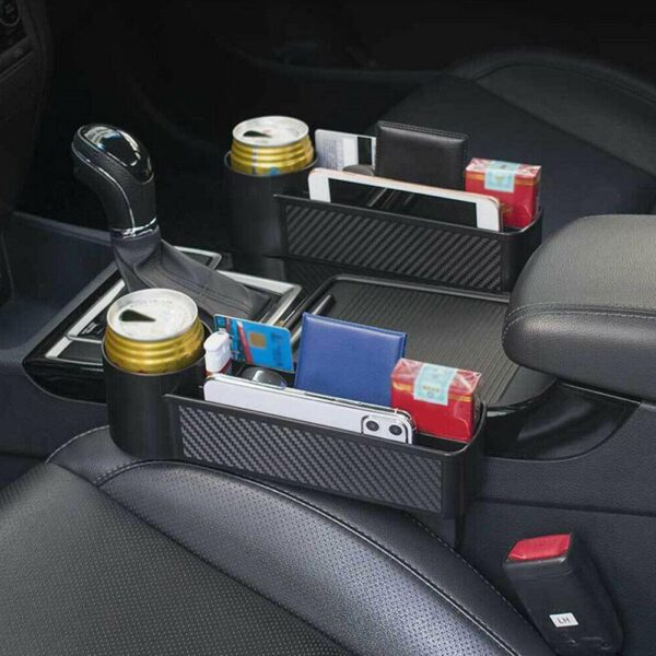Car Seat Crevice Storage Box ABS Multi-function Console Side Pocket Drink Holder for Wallet Phone Keys Cards Car Storage Box Car accessories