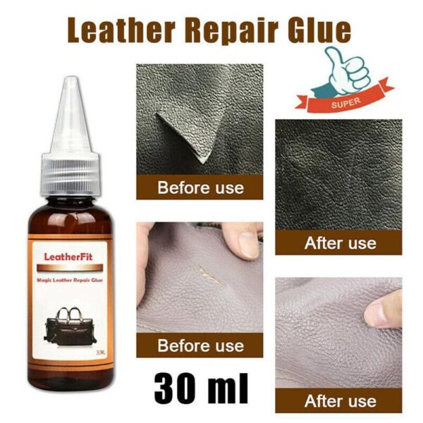 Car Seat Scratch Repair Glue Black Strong Leather Repair Glue Washable For Leather Bag Belt Sofa Leather Shoes Repair Car accessories
