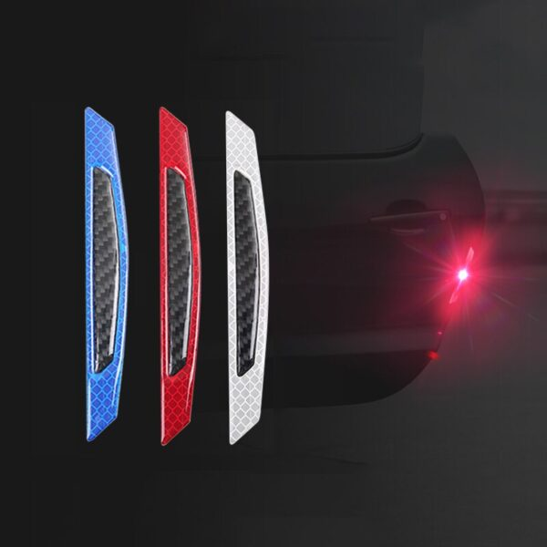 Car Sticker 5D Carbon Fiber Stickers Car Stickers And Decals Auto Reflective Strip Warning Car Styling Accessories Automobiles Car accessories