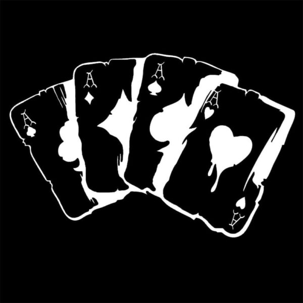 Car Stickers 15.3CM*9.9CM Poker Graphic Car Motorcycles Stickers 3D Reflective Car Styling BUY 2 SAVE HALF Custom Sticker Car accessories