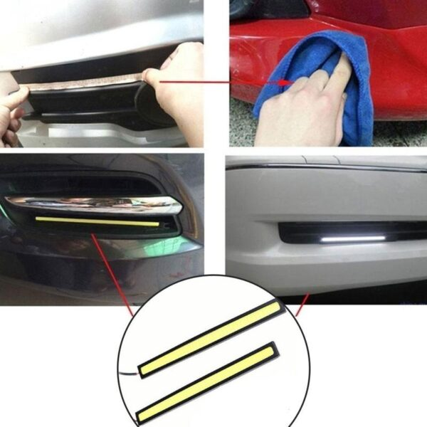 Car Styling Ultra Bright LED Daytime Running lights 17cm Waterproof Auto Car DRL COB Driving Fog Lamp 2 Piece Sell Car accessories