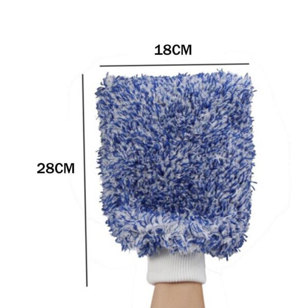 Car Wash Glove Coral Mitt Soft Anti-scratch For Car Wash Multifunction Thick Cleaning Glove Car Detailing Brush Car Maintenance Car accessories