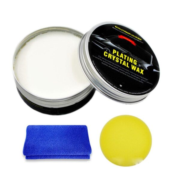 Car Wax Crystal Plating Set Hard Glossy Carnauba Wax Paint Care Coating Tiny Scratch Repair Maintenance With Sponge And Towel Car accessories