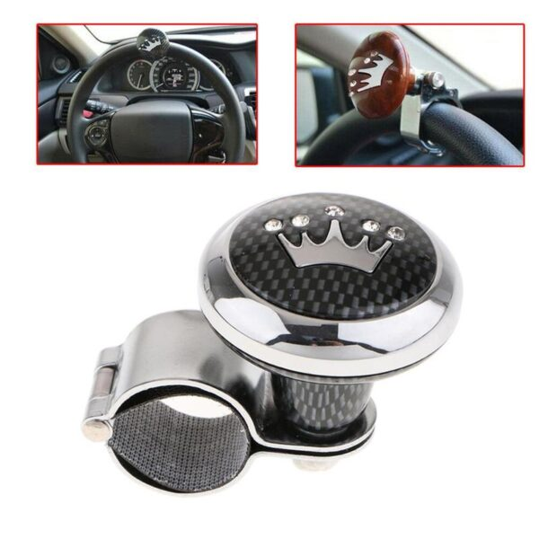 Car steering wheel booster ball handle steering gear steel bearing ball steering ball wheel booster with assist Q7O7 Car accessories