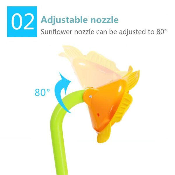 Cartoon Baby Bath Toys Sunflower Spray Water Shower Faucet Kids Bath Toy With Box Bathroom Toys For Children Water Game Playing Swimming