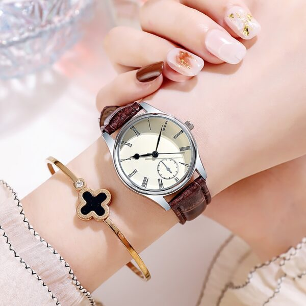 Classic Man Watches Crocodile Leather Strap Light Luxury Casual Ultra Thin Quartz Women Gift for Couple Fashion Life & Accessories Iwatch & Accessories