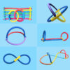 Colorful Water Floating Swimming Pool Noodle Foam Water Float Aid Woggle Solid Noodle Flexible Row Ring Kids pool Noodle Accesso Swimming