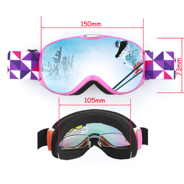 Double Lens Ski Goggles Anti-fog UV400 Outdoor Sports Skiing Goggles for Kids Adults Snow Snowboard Protective Glasses Eyewear Ski Shop