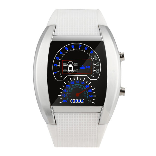 Fashion Aviation Turbo Dial Flash Led Watch Gift Mens Lady Sports Car Meter Luxury Top Fashion Creative Fashion Gift Watch Fashion Life & Accessories Iwatch & Accessories