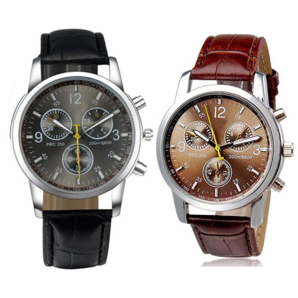 Fashion Faux Leather Mens Analog Quarts Watches Men Wrist Watch 2018 Mens Watches Top Luxury Casual Watch Clock Gift Fashion Life & Accessories Iwatch & Accessories